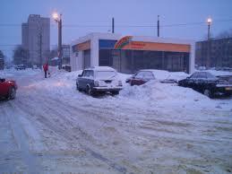 Затрудненное движение в центре Черновцов из-за снегопада