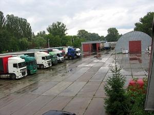 В Молодечно появилась стоянка для грузовиков