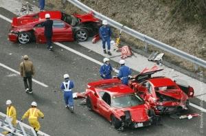 Самое дорогое ДТП произошло в Японии