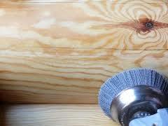Шлифовка стен сруба