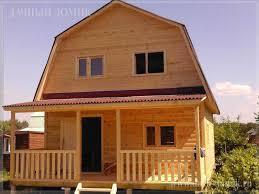 Дома построенные с применением профилированного бруса