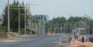 Строительство проспекта Дзержинского идет круглые сутки