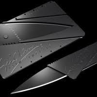 Появилась новая разработка- нож в форме кредитки